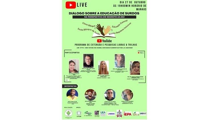 """LIVE – """"Diálogo sobre a Educação de Surdos na Perspectiva do Decreto 10.502/2020"""""""